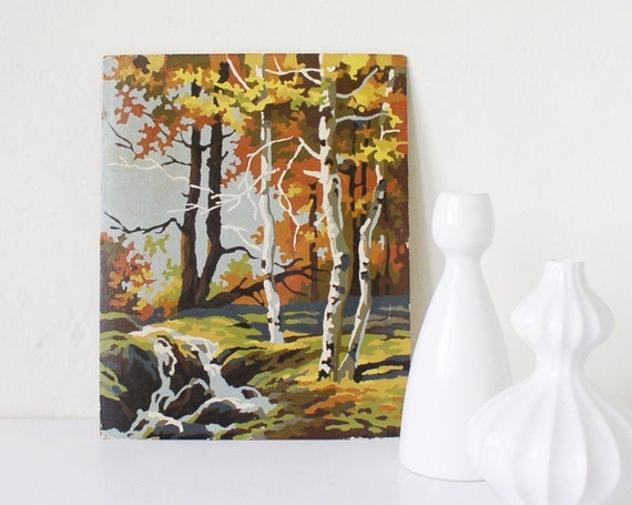Forest scene paint by numbers