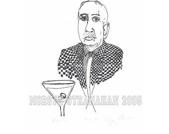 Martini - Silk screen (hand printed)