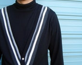 Cool  60s 2 in 1 Mens striped cardigan Sweater 1950s  1960s Rat Pack Frank Sinatra Mad Men  Penguin