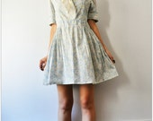 Sailing with Flowers ... pastel neck tie dress