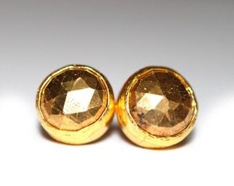 Fools Gold Stud Earrings