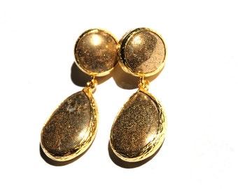 Fools Gold Angelina Drop Earrings