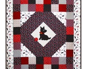 MY PRECIOUS PET Quilt Pattern - B J Q 104 --- Printable Download Pdf E-Pattern Diy Free Shipping Digital Pattern Scottie Dog Black White Red