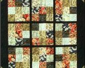 JOY OF SUDOKU Quilt Pattern - B J Q 109 --- Printable Download Pdf E-Pattern Diy Free Shipping Digital Pattern Black Gold White Red Asian