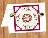WEDDING ROSE QUILT With Quilting Bees Printed Note Cards