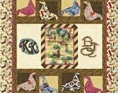 KICKIN KERCHIEFS Quilt Pattern - B J Q 125 --- Printable Download Pdf E-Pattern Diy Free Shipping Digital Pattern Bandana Kerchief Cow Girl