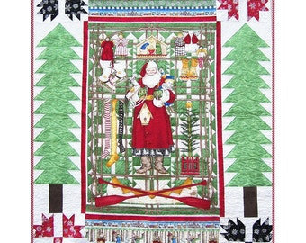 HOLIDAY PANEL Quilt Pattern - B J Q 101 --- Printable Download Pdf E-Pattern Diy Free Shipping Digital Pattern Christmas Red Green White