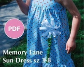 Moving Sale - Memory Lane Sun Dress PDF pattern sz 3-8