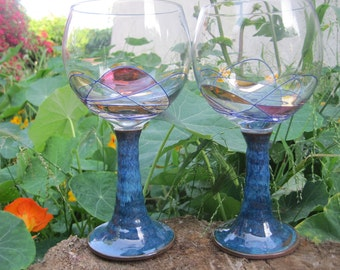 Turquoise Red wine glasses