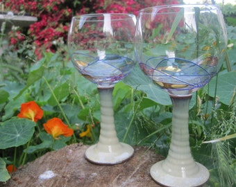 Bamboo Tan Red wine glasses
