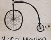 Inspirational Print-Motivational Wall Art- Print-Moving Forward-Bike, Albert Einstein, Quote, Motivational, Children, Nursery Art