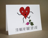 Funny Valentines Day Card - You Make My Heart Skip A Beet
