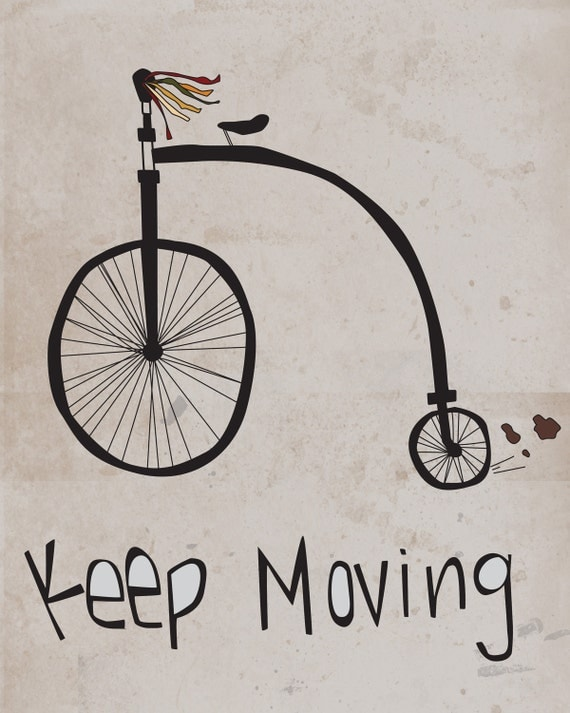 Inspirational Print-Motivational Wall Art- Print-Moving Forward-Bike, Albert Einstein, Quote, Motivational, Children, Nursery Art