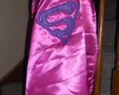 READY TO SHIP Reversible Superhero Princess Super Girl Cape Size 2-5 years old