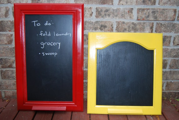 Sale Upcycled Cabinet Door Chalkboard With Scrabble Tile