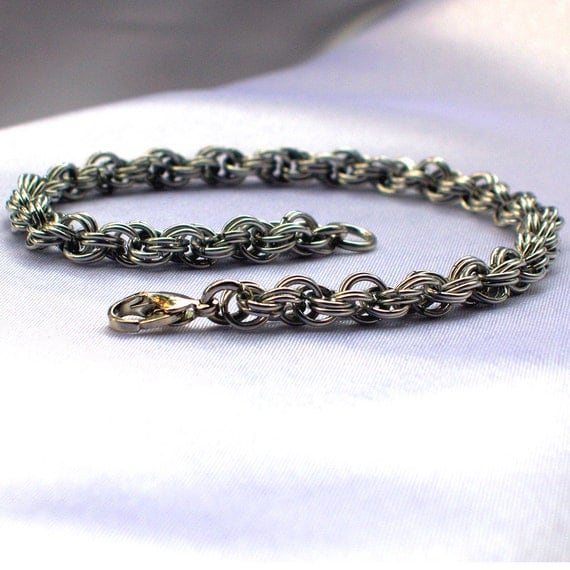 Extra-fine Double Spiral Chainmaille Bracelet