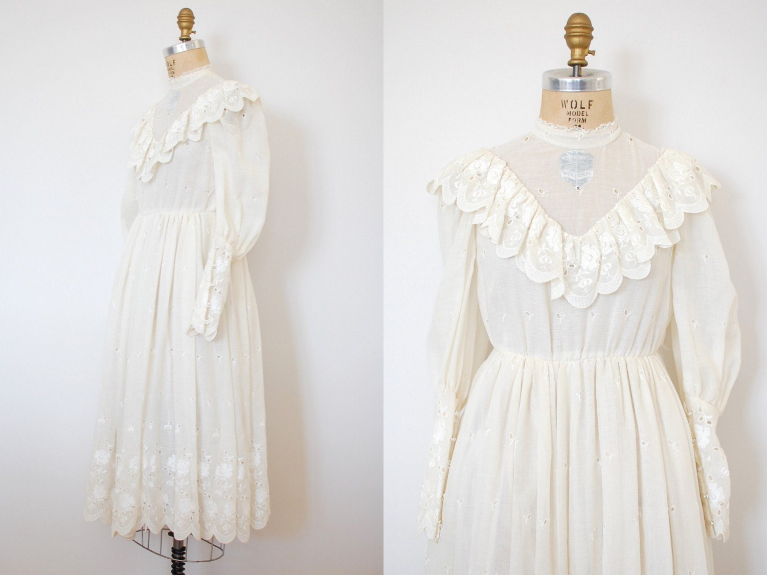 Vintage 1970s the wedding march dress 70s by 13bees on etsy for Laura ingalls wilder wedding dress