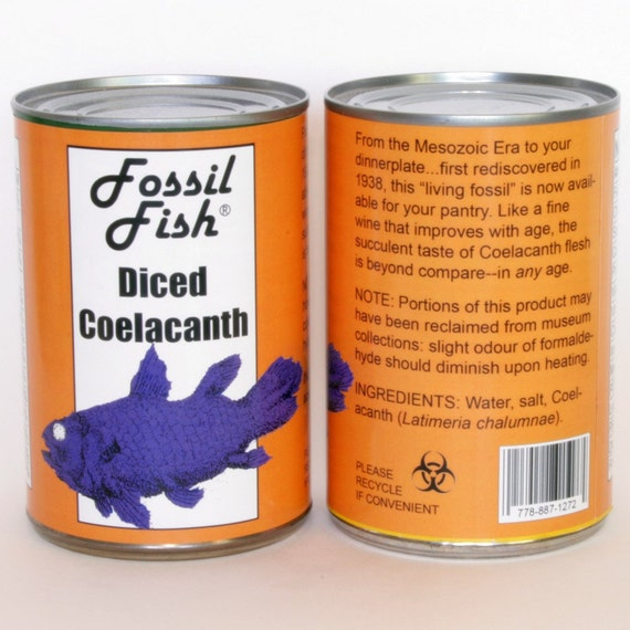 Diced Coelacanth Label