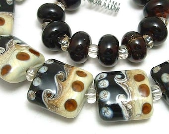 BROWN AND IVORY  NUGGETS
