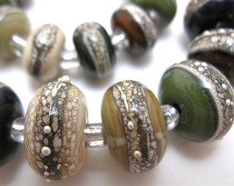 NEUTRALS WITH SILVER LAMPWORK ROUNDS