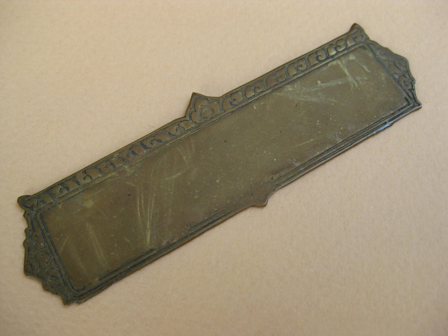 Vintage metal name plate plaque tag finding for Classic house name plates