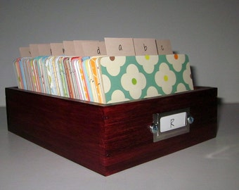 Address Card File...Large...Rolodex...Wedding Guest Book Alternative...Handcrafted...Printed Address Cards...Organ
