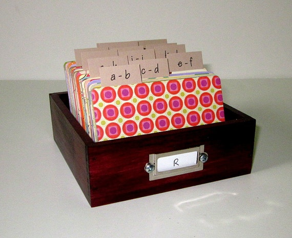 Address Card File...Medium...Rolodex...Wedding Guest Book Alternative...Handcrafted...Printed Address Cards...Organizer...Business Card