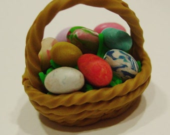 Miniature Easter Basket OOAK