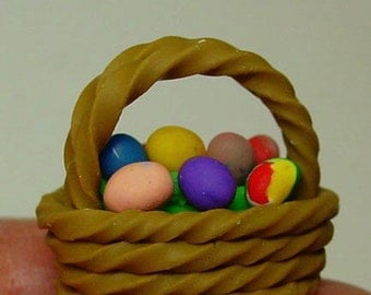 Dollhouse Miniature Easter Basket