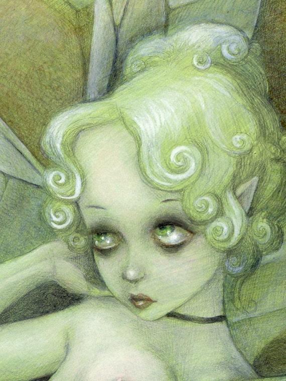 Absinthe Fairy - Wood-mounted Print