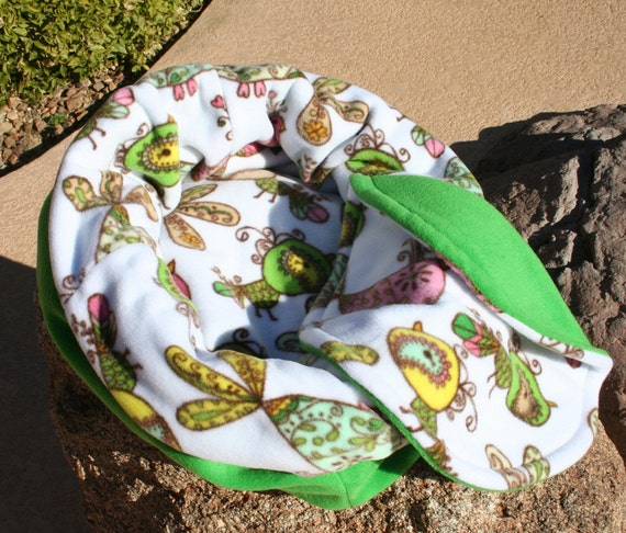 Snooze Sack for Cats - Paisley Birds
