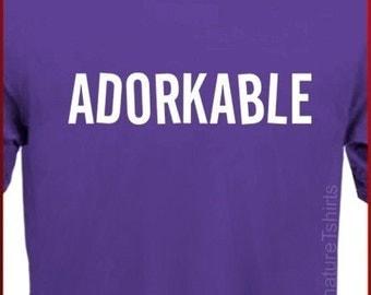 ADORKABLE Mens Womens T-Shirt  - Funny Geek Dork  tshirt shirt Christmas Gift S, M, L, XL, 2XL