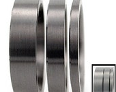 Titanium Ring Minimalist Fat Bands - Modern Stack Rings- build different patterns
