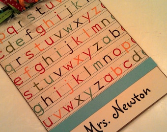 Alphabet Teacher Personalized Clipboard