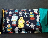 Robots -- Child Size or Travel Pillow Cover\/Pillowcase