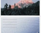 Neuschwanstein and Santorini Postcards
