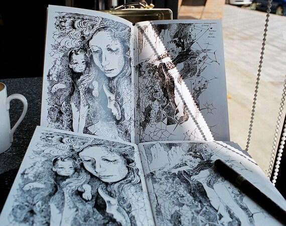 W-LB-G-B-B-G-LB-W / White - Mirror (Art Book - Comic Book)