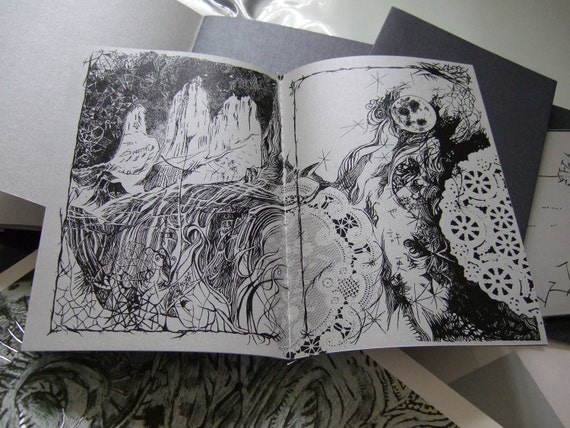W-LB-G-B-B-G-LB-W / Light Blue - Doily (Art Book - Comic Book) Number 2 (anodised)