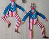 1940s Uncle Sam Articulated Paper Doll