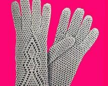 1950 Crochet Lace Gloves Pattern