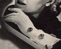1944 Long Crochet Lace Gloves
