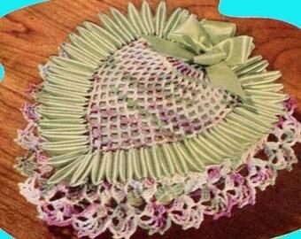1953 Digital Crochet Pattern - Pineapple Pincushion