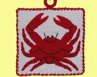 1947 Crab Pot Holder - Crochet Applique