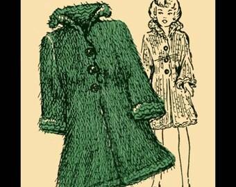 1963 Fashion Doll Mohair Coat
