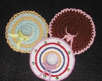 Crochet Sombrero Needlecase Pattern - Holds Thimble and Needles