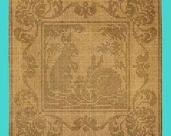 1909 Bunnies Filet Crochet
