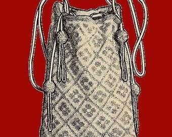 1924 Gray and Steel Bead Bag