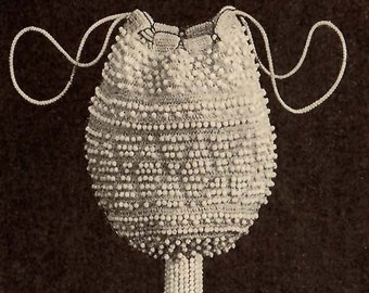 1924 White Beaded Reticule Pattern