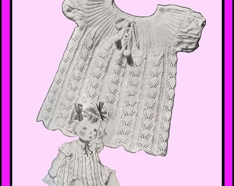 1939 Madelaine Knit Baby Dress Pattern