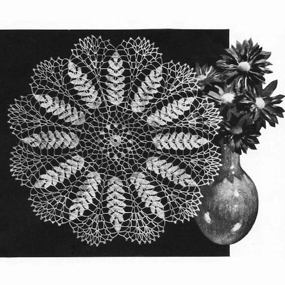 1953 Ripe Wheat Doily Crochet Pattern